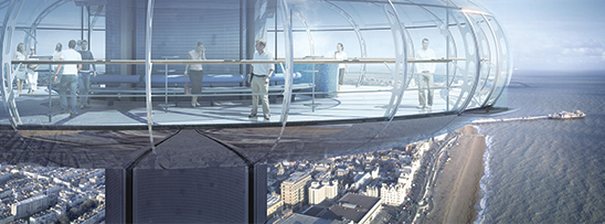 Teleférico vertical em Londres