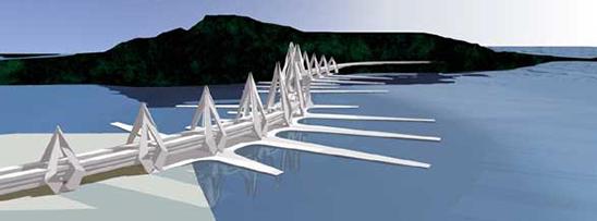 Ponte com formato inovador