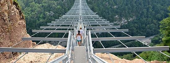 Entregue maior ponte pedonal do mundo está Rússia